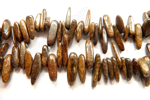 "Bronzite -  Smooth Sticks 16""      6 x 18 mm"