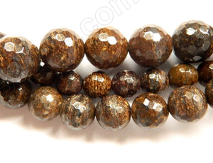 Bronzite  -  Faceted Round  16""