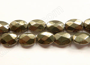 Pyrite A  -  Faceted Ovals 16""