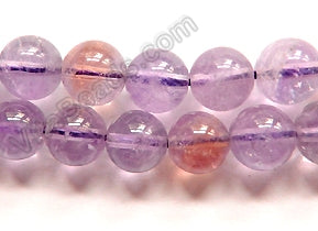 Amatrine Natural A  -  Smooth Round Beads  16""