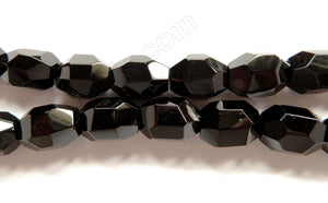 "Black Onyx AA  -  Machine Cut Nuggets  16""   14 x 18 x 14 mm"