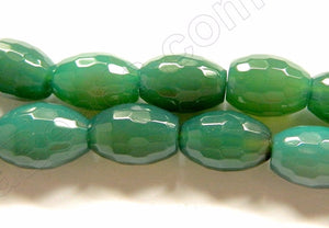 Green Onyx  -  Faceted Drum  16""
