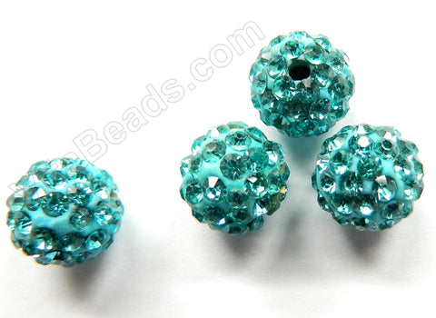 Rhinestones Spacer London Blue Crystal Ball