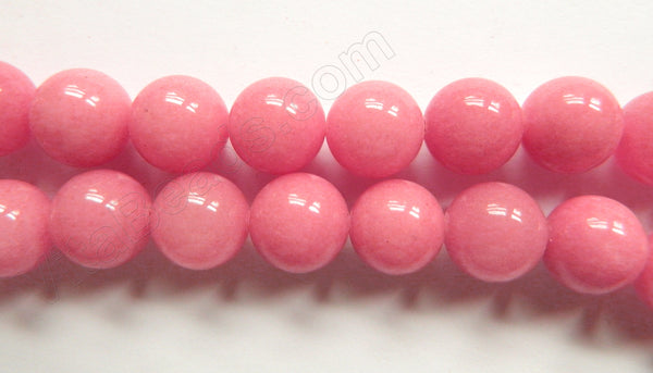 Pink Carnation Mashan Jade  -  Smooth Round  16""