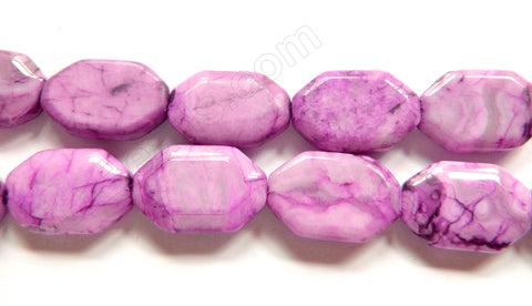 Purple Fuchsia Brazilian Agate  -  Irregular Faceted Flats  16""