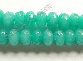 Bright Amazonite Jade  -  8mm Faceted Rondels  16""