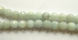 Multi Color Amazonite AB  -  8mm Faceted Round  16""