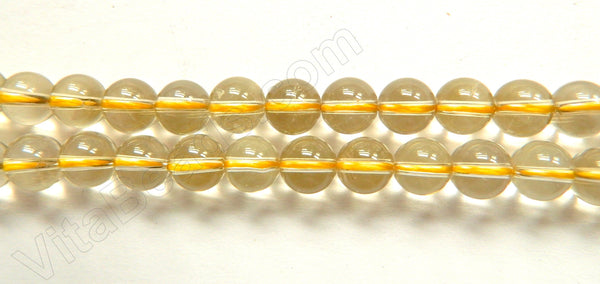 Natural Smoky Lemon Crystal AAA  -  Smooth Round  16""