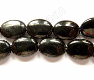 Black Jet Stone Natural  -  Puff Ovals  16""