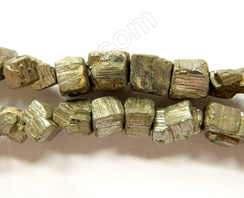 Pyrite Rough A  -  Irregular Cube Nuggets  16""