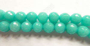 Light Russian Amazonite Jade  -  Faceted Round  16""
