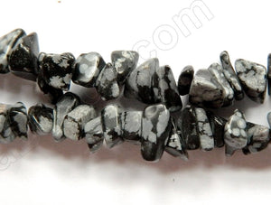 Snow Flake Obsidian  -  Chips 36""