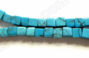 Blue Stablelized Turquoise w/ Matrix   -  Small Cubes  16""