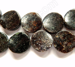 Fishscale Jasper  -  Twisted Flat Coins  16""