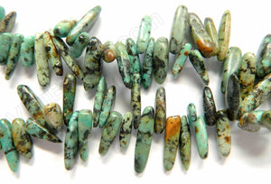 Africa Turquoise  -  6x18mm Smooth Sticks 16""