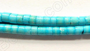 Stablelized Blue Turquoise - Heishi  16""