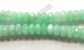 Amazonite Jade  -  4mm Small Faceted Rondel  15""