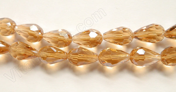 Champ. Crystal Quartz  -  Faceted Drops