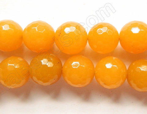 Dyed Yellow Jade  -  Faceted Round  16""
