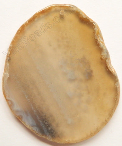 Natural Grey Agate Free Form Slab Pendant - 09