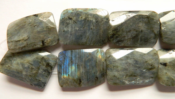 Labradorite AA  -  Big Twist Faceted Rectangle  16""