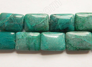 New Chrysacolla  -  Puff Rectangles 16""