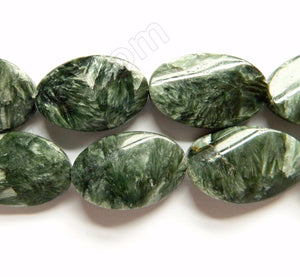 Seraphinite AA  -  Twisted Flat Ovals  16""