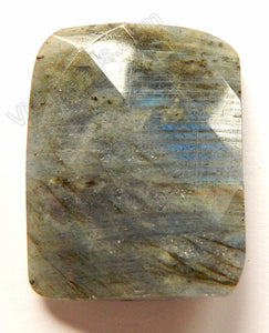 Faceted Twist Rectangle Pendant - Labradorite