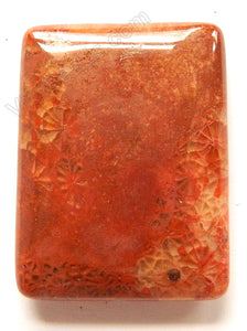 Pendant - Smooth Rectangle - Red Fossil Jasper