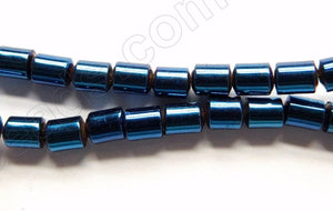 London Plated Hematite  -  Smooth Round Tube  16""