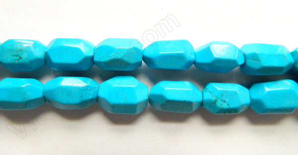 Deep Blue Magnesite Turquoise  -  Machine Cut Nuggets 16""