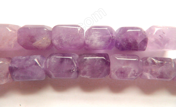 Amethyst Light Quartz  -  Smooth Cut Cube Nuggets 16""