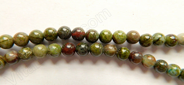 Africa Prase Jasper  -  6mm Smooth Round Beads   16""
