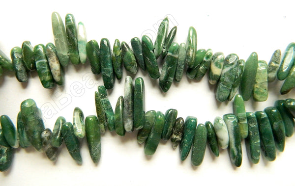 Africa Jade   -  6x20mm Smooth Sticks 16""