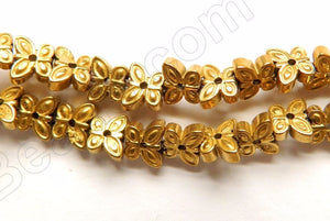 Gold Plated Hematite  -  Carved Small Butterflies 16""