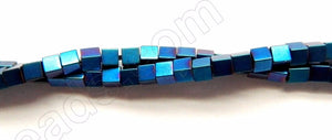 Blue Plated Hematite  -  Small Cubes  16""