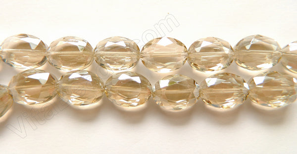 Light Champ. Crystal Qtz  -  Faceted Ovals  12.5""