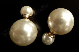 Pearl Shell - White  -  Double Sided Earring
