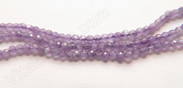 Amethyst Light A  -  Small Faceted Round   15""