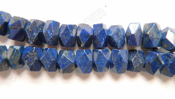 "Lapis Lazuli AA  -  Center Drilled Fine Cut Nuggets 16""    12 x 15 x 10 mm"