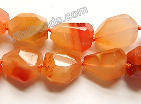 "Carnelian w/ Natural Agate  AA  -  Machine Cut Tumble16""     13 x 16 x 13 mm"