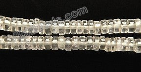 "Crystal (Pale Pink)  -  Small Heishi 16""    4x2mm"