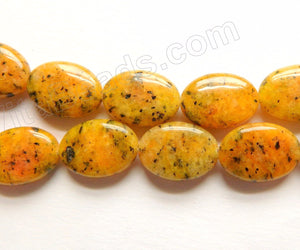 Yellow Kiwi Jade  -  Puff Ovals  16""