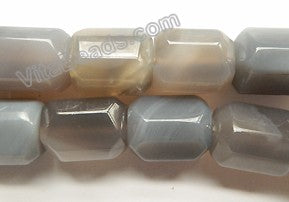 Grey Agate  -  Machine Cut Rectangle Nuggets  16""