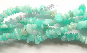 "Peruvian Amazonite Natural A  -  Small Chips 36""   3 - 6 mm"