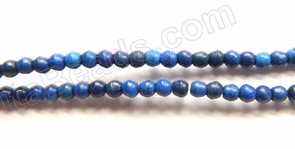 "Lapis Turquoise  -  Small Smooth Round Beads  16""     2.5 mm"