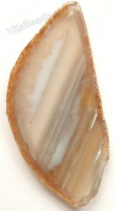 Natural Grey Agate Free Form Slab Pendant - 27
