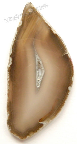 Natural Grey Agate Free Form Slab Pendant - 29