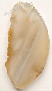Natural Grey Agate Free Form Slab Pendant - 36
