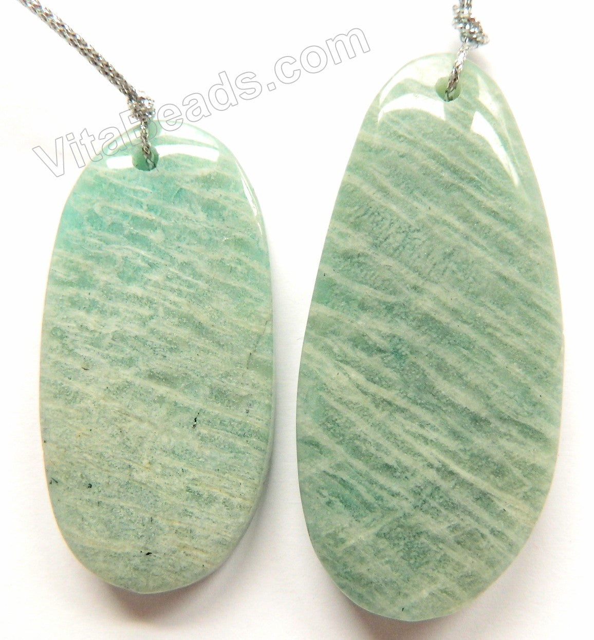 Light Russia Amazonite  -  Smooth Free Form Pendant16""
